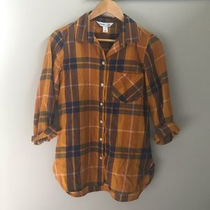 Old Navy Mustard Yellow Flannel